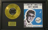 BUDDY HOLLY Gold Disc&songsheet DOESN'T MATTER ANY MORE